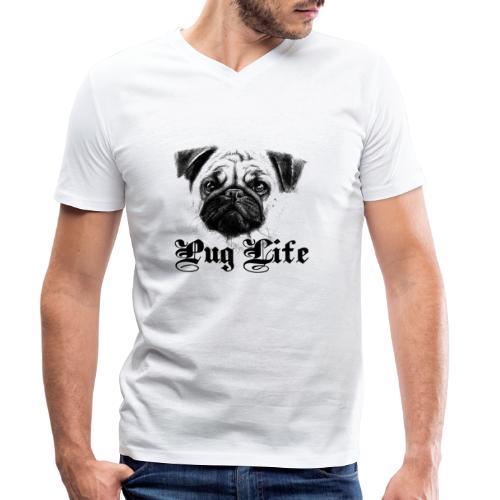 La vie de carlin - T-shirt bio col V Stanley & Stella Homme