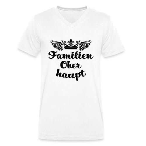 45 Familien Oberhaupt Krone Flügel - Männer Bio-T-Shirt mit V-Ausschnitt von Stanley & Stella