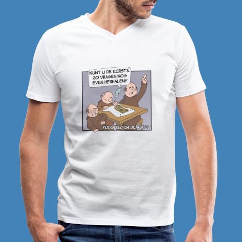 Pubquiz in de Abdij - Mannen bio T-shirt met V-hals van Stanley & Stella