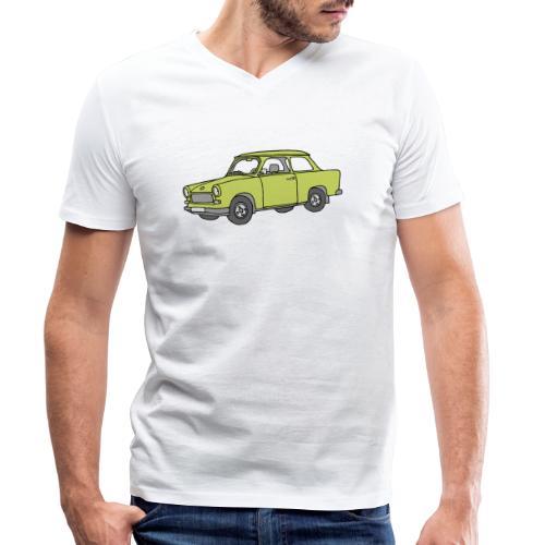Trabi, Trabant (baligrün) - Männer Bio-T-Shirt mit V-Ausschnitt von Stanley & Stella