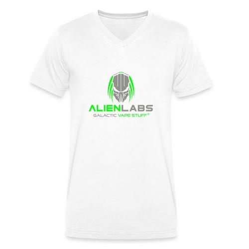ALIEN LABS LOGO gra/wht - Männer Bio-T-Shirt mit V-Ausschnitt von Stanley & Stella