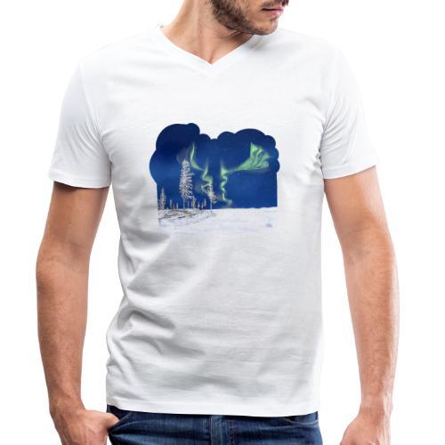 hiver avec des aurores boréales - T-shirt bio col V Stanley & Stella Homme