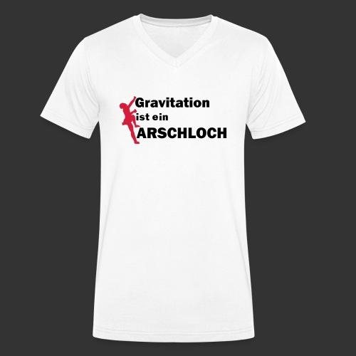 Gravitation Arschloch - Männer Bio-T-Shirt mit V-Ausschnitt von Stanley & Stella