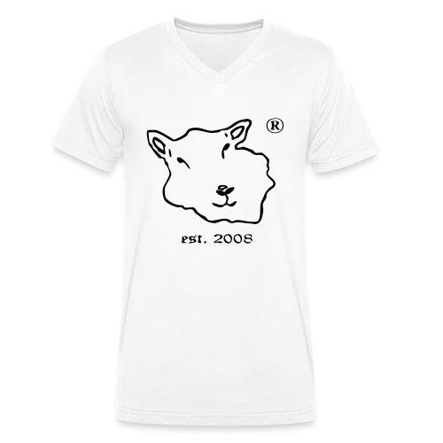 Floer von Foehr est 2008 vector kleiner.ai - Männer Bio-T-Shirt mit V-Ausschnitt von Stanley & Stella