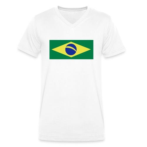 Braslien - Männer Bio-T-Shirt mit V-Ausschnitt von Stanley & Stella