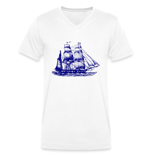 wor-png - Ekologiczna koszulka męska z dekoltem w serek Stanley & Stella