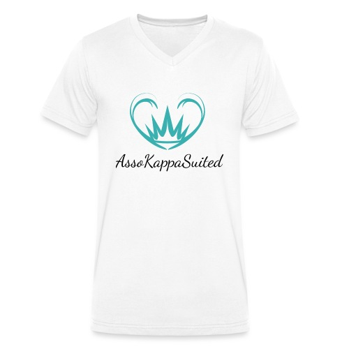 AssoKappaSuited - T-shirt ecologica da uomo con scollo a V di Stanley & Stella