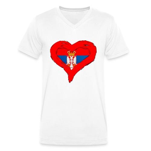 SRBIJA U SRCU - Men's Organic V-Neck T-Shirt by Stanley & Stella