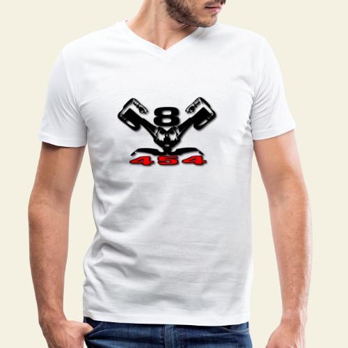 454 v8 - Økologisk Stanley & Stella T-shirt med V-udskæring til herrer