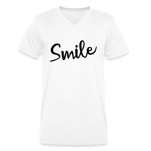 Smile - Männer Bio-T-Shirt mit V-Ausschnitt von Stanley & Stella