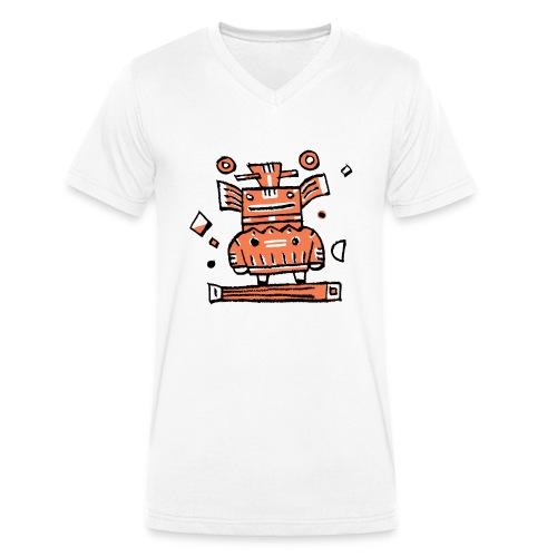 dein Name - Männer Bio-T-Shirt mit V-Ausschnitt von Stanley & Stella