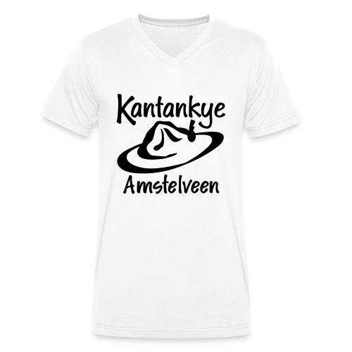logo naam hoed amstelveen - Mannen bio T-shirt met V-hals van Stanley & Stella