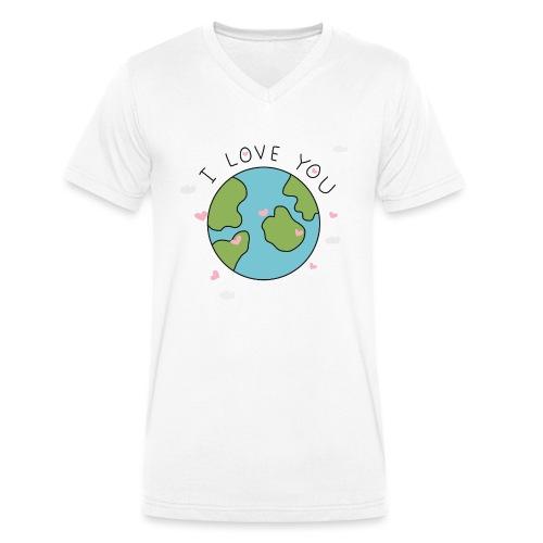 iloveyou - T-shirt ecologica da uomo con scollo a V di Stanley & Stella