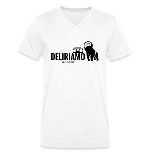 DELIRIAMO CLOTHING (GdM01) - T-shirt ecologica da uomo con scollo a V di Stanley & Stella