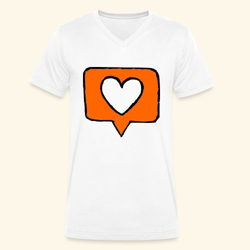 Like - Men's Organic V-Neck T-Shirt by Stanley & Stella