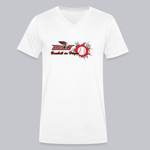Baseball im Herzen - Männer Bio-T-Shirt mit V-Ausschnitt von Stanley & Stella