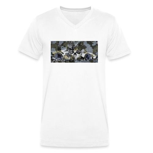 calavera style - Men's Organic V-Neck T-Shirt by Stanley & Stella