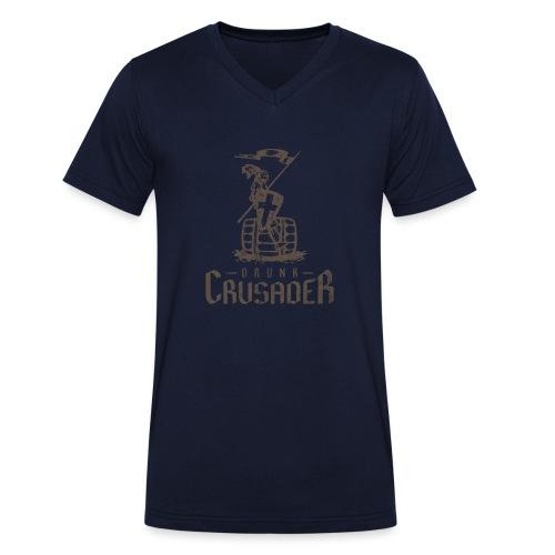 Drunk Crusader - Männer Bio-T-Shirt mit V-Ausschnitt von Stanley & Stella