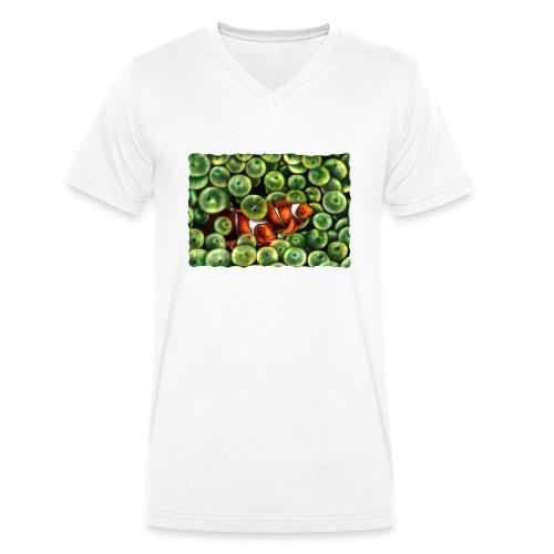 Pesci Pagliaccio - T-shirt ecologica da uomo con scollo a V di Stanley & Stella