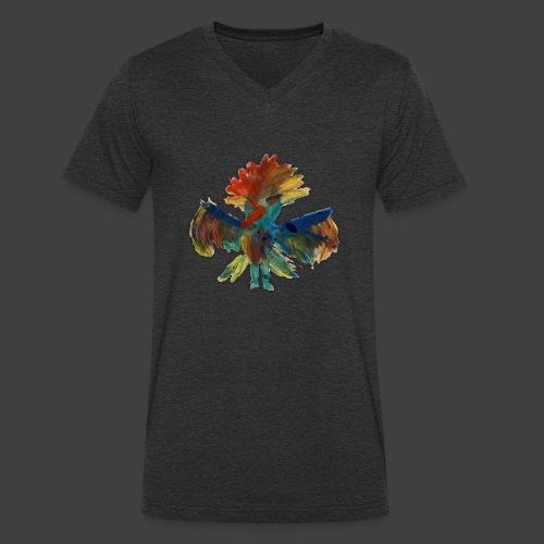 Mayas bird - Men's Organic V-Neck T-Shirt by Stanley & Stella