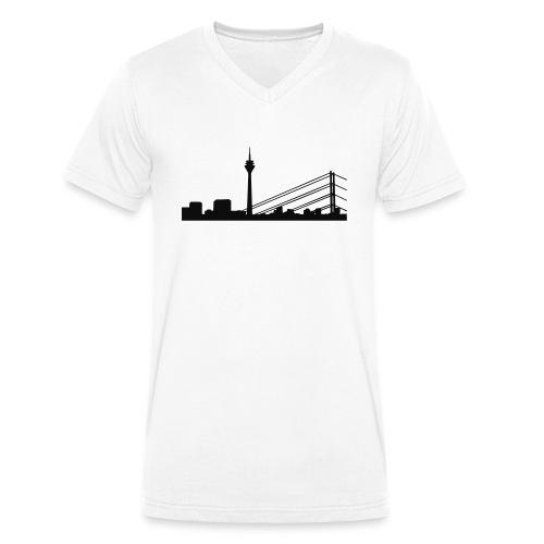 Düsseldorf Panorama - Männer Bio-T-Shirt mit V-Ausschnitt von Stanley & Stella