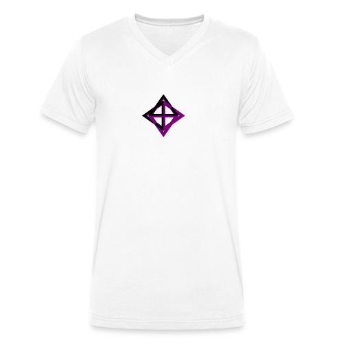 star octahedron - Men's Organic V-Neck T-Shirt by Stanley & Stella