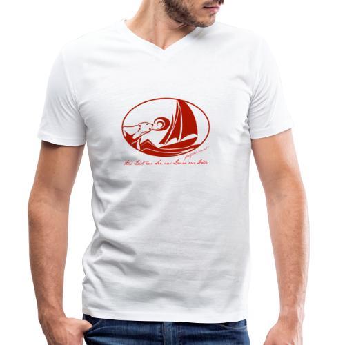 fortgeblasen - Aus Lust zur See - Männer Bio-T-Shirt mit V-Ausschnitt von Stanley & Stella