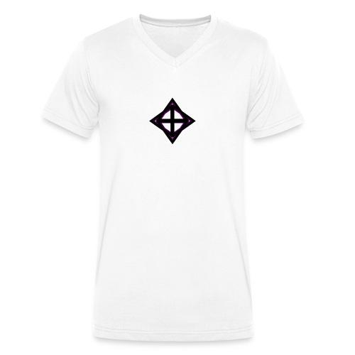 star octahedron geommatrix - Men's Organic V-Neck T-Shirt by Stanley & Stella