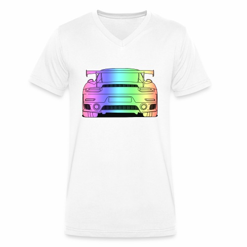 cool car rear colourful - Men's Organic V-Neck T-Shirt by Stanley & Stella
