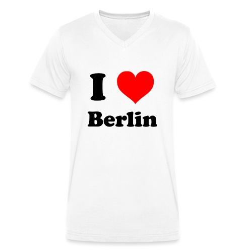 love berlin - Männer Bio-T-Shirt mit V-Ausschnitt von Stanley & Stella