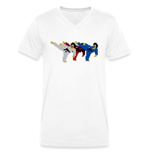 8 bit trip ninjas 2 - Men's Organic V-Neck T-Shirt by Stanley & Stella