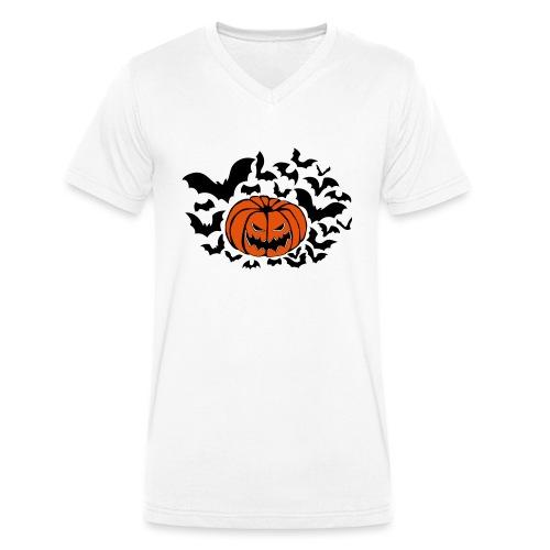 Pumpkin Bats - Men's Organic V-Neck T-Shirt by Stanley & Stella