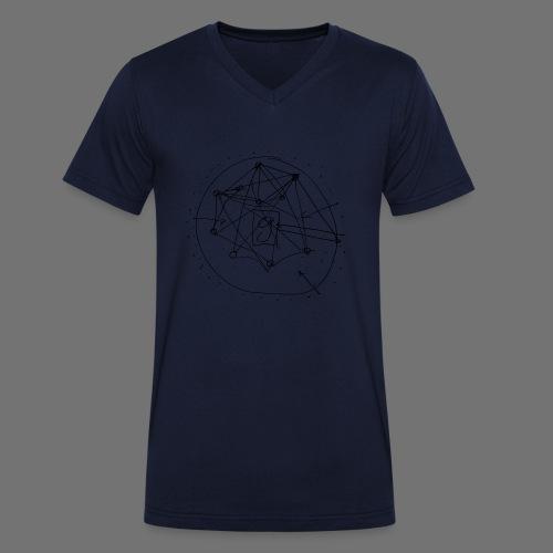 Strategia SEO nr 1 (czarny) - Ekologiczna koszulka męska z dekoltem w serek Stanley & Stella