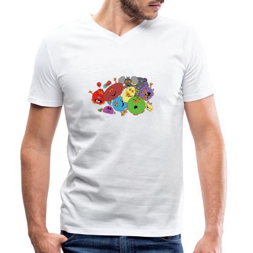 Blubbianerna! - Ekologisk T-shirt med V-ringning herr från Stanley & Stella