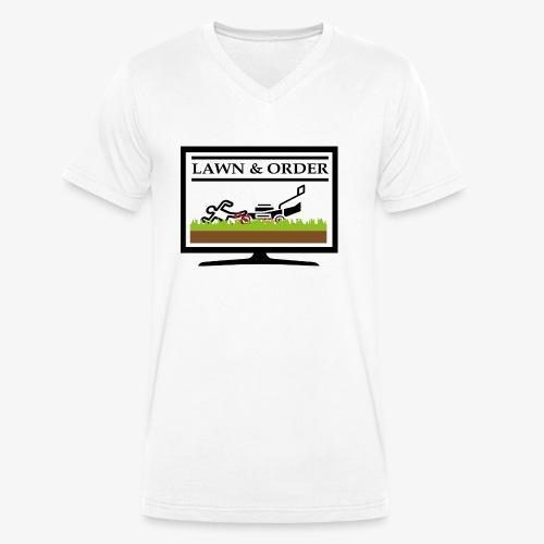 Lawn and Order Rasenmäher Mörder - Männer Bio-T-Shirt mit V-Ausschnitt von Stanley & Stella