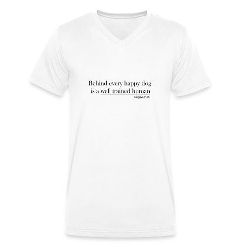 Glücklicher Hund - Männer Bio-T-Shirt mit V-Ausschnitt von Stanley & Stella