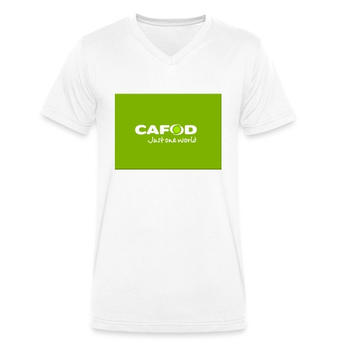 CAFOD Logo greenback - Men's Organic V-Neck T-Shirt by Stanley & Stella