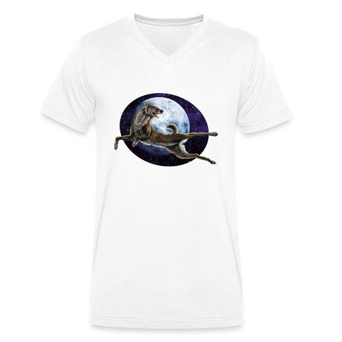 Galaxy Wolf - Männer Bio-T-Shirt mit V-Ausschnitt von Stanley & Stella