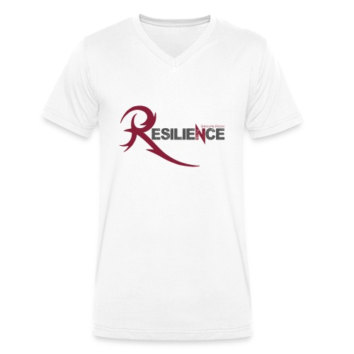 Logo groupe RESILIENCE - T-shirt bio col V Stanley & Stella Homme