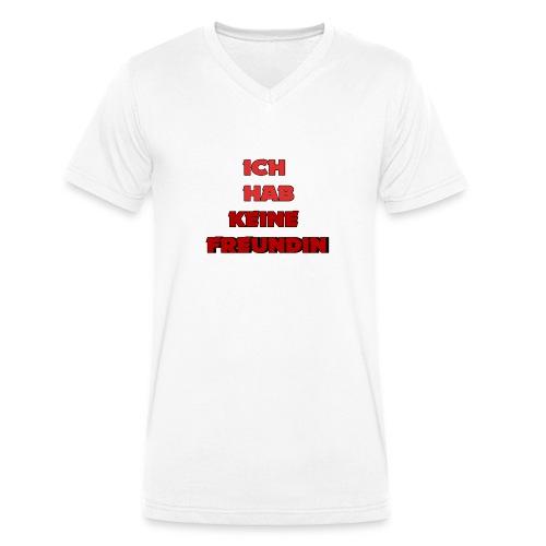 Ich habe keine Freundin Hoodie - Men's Organic V-Neck T-Shirt by Stanley & Stella