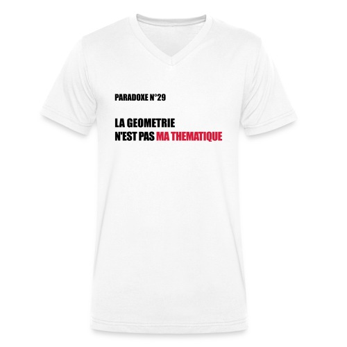 PARADOXE geometrie - T-shirt bio col V Stanley & Stella Homme