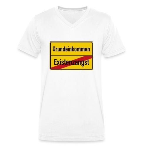Grundeinkommen BGE - Männer Bio-T-Shirt mit V-Ausschnitt von Stanley & Stella