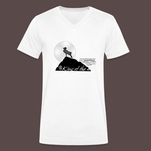Muflone Halftone - T-shirt ecologica da uomo con scollo a V di Stanley & Stella