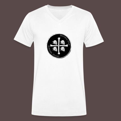 Sardegna Quattro Mori Pirata - T-shirt ecologica da uomo con scollo a V di Stanley & Stella