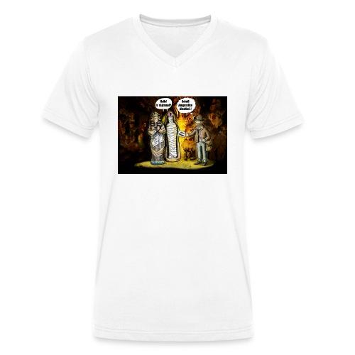 Indianer-Jones - Männer Bio-T-Shirt mit V-Ausschnitt von Stanley & Stella