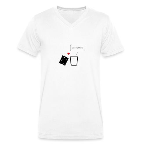 Regali per Innamorati | Mi Completi - T-shirt ecologica da uomo con scollo a V di Stanley & Stella