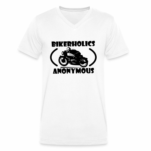 Bikerholics Anonymous - Men's Organic V-Neck T-Shirt by Stanley & Stella