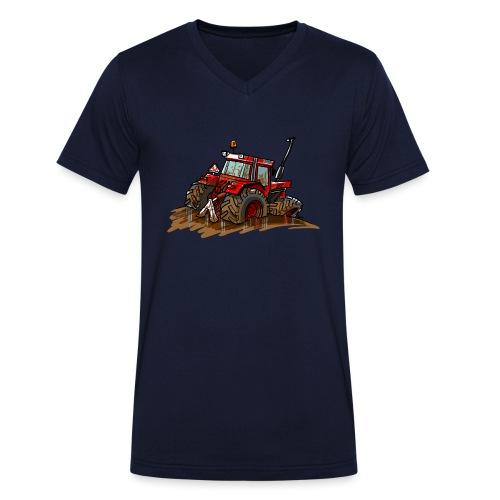 IH in de blub - Mannen bio T-shirt met V-hals van Stanley & Stella