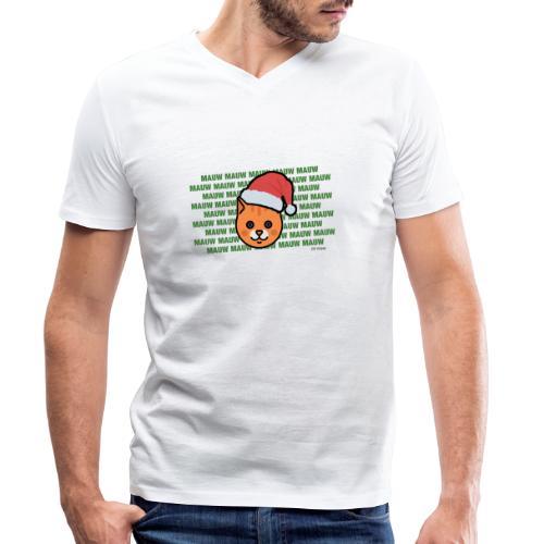 mauw - Mannen bio T-shirt met V-hals van Stanley & Stella