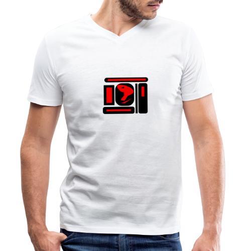 black and red hot P - Männer Bio-T-Shirt mit V-Ausschnitt von Stanley & Stella